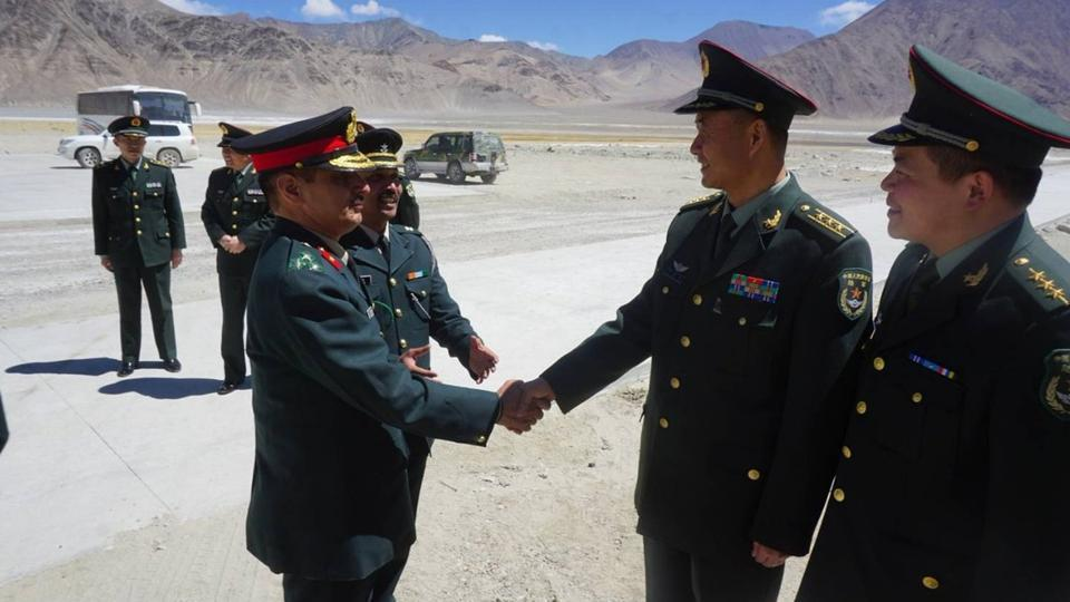 Special Border Personnel Meeting between India and China at Chusul in Ladakh.