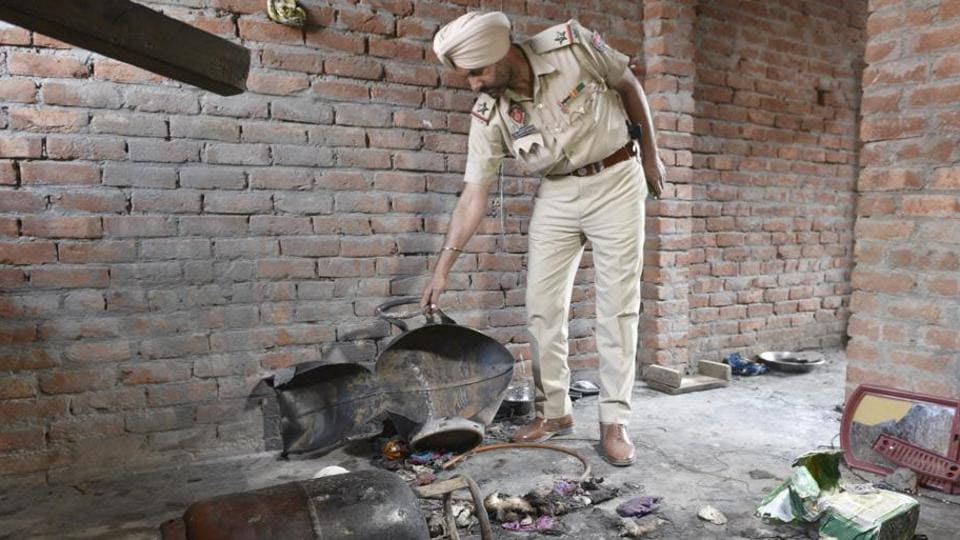 The cylinder explosion took place at 6.45am in a house belonging to Ashok Kumar Yadav in Smart Colony