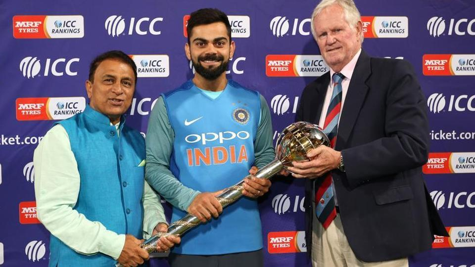 Indian cricket team captain Virat Kohli received the ICC Test Championship Mace in February.