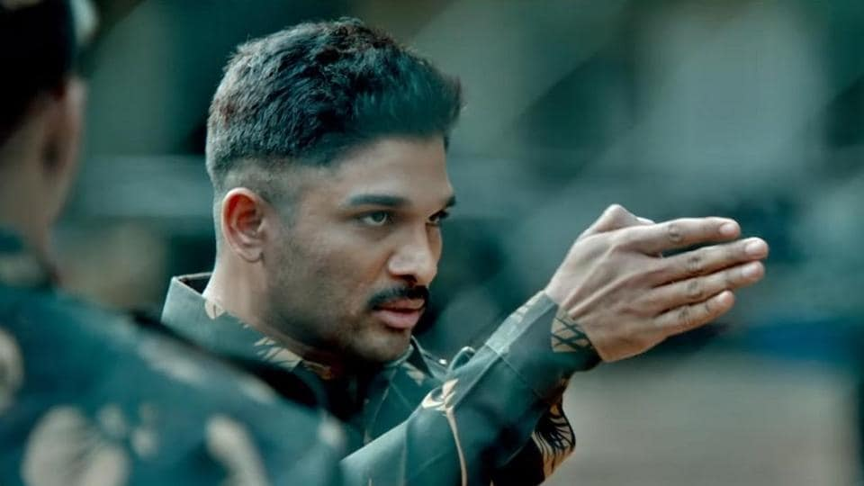 Allu Arjun plays a military officer with anger issues in Naa Peru Surya.
