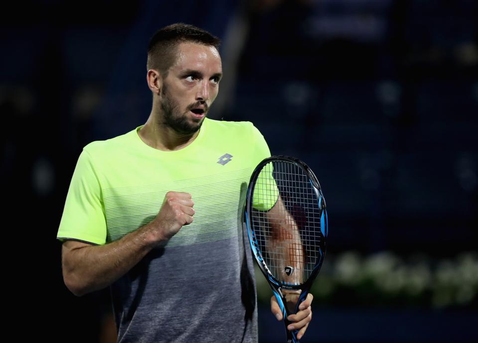 Viktor Troicki of Serbia entered the second round of the Istanbul Open tennis tournament beating Bernard Tomic.