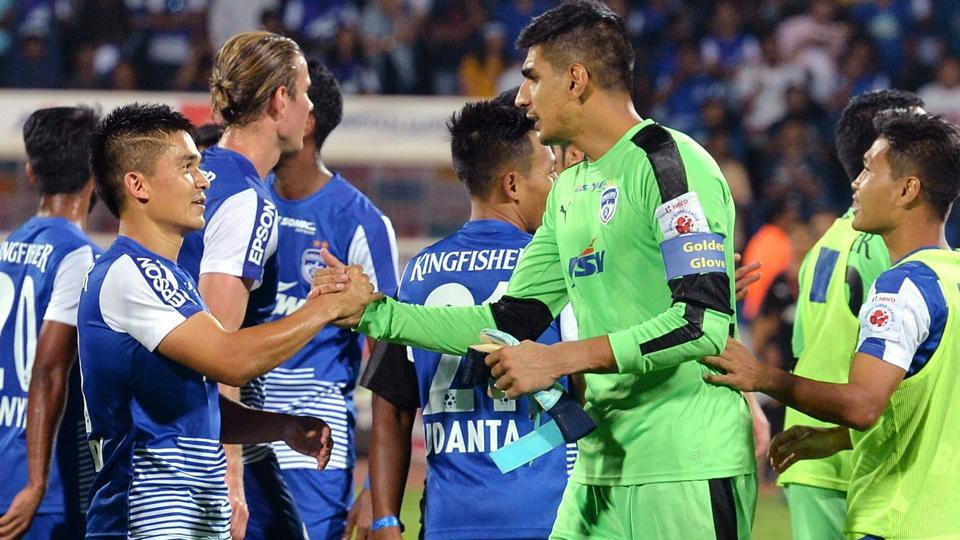 Bengaluru FCtake on Aizwal FCin their AFCCup group stage encounter in Bangalore on Wednesday.