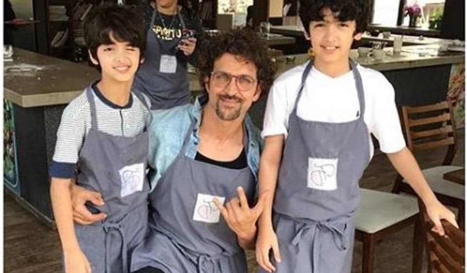 Hrithik Roshan Ex Sussanne Khan Take Sons To Watch Avengers