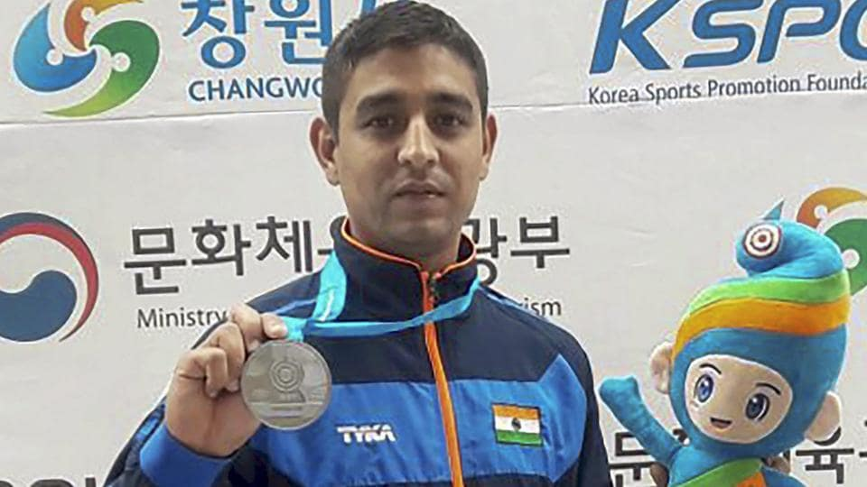 Shahzar Rizvi won a  silver medal in the 10m Air Pistol event at the ISSF World Cup in Changwon, South Korea  in April.