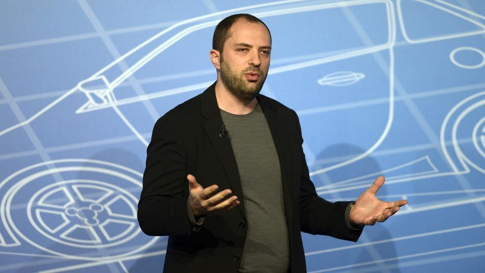 Whatsapp co-founder and CEO Jan Koum speaks during a conference at the Mobile World Congress, the world's largest mobile phone trade show in Barcelona, Spain.