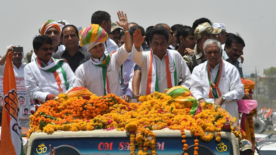 MP Congress chief Kamal Nath holds roadshow
