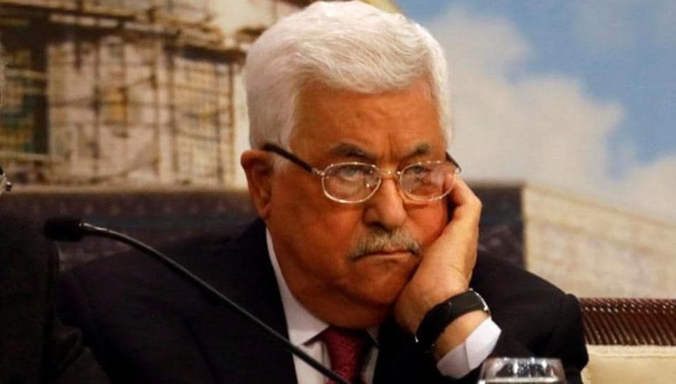 Palestinian President Mahmoud Abbas attends the Palestinian National Council meeting in Ramallah, in occupied West Bank.