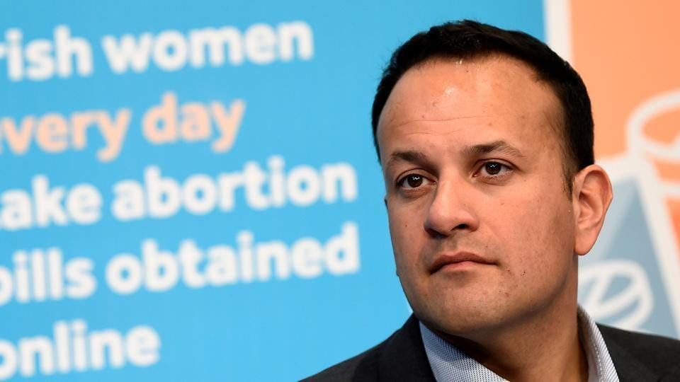 Irish Prime Minister Taoiseach Leo Varadkar looks on at a Fine Gael party event pressing for a 'Yes' vote in the May 25th referendum on abortion law, in Dublin, Ireland, April 21, 2018.