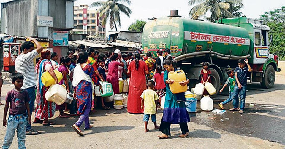 Panvel is going through a severe water crisis for the past three months. Some areas do not get water supply for three to four days at a stretch.