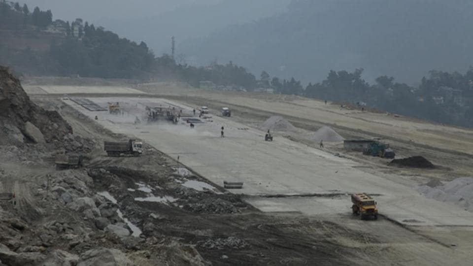 The new airport is coming up at Pakyong, about 35km from Sikkim's capital Gangtok.