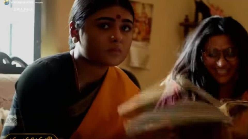 Shalini Pandey's look in Mahanati was revealed in the behind-the-scenes video of the film.