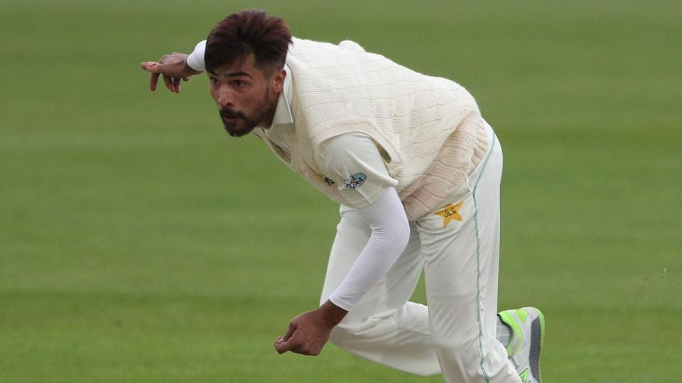 Mohammad Amir of Pakistan cricket team in action during Day 1 of the tour match against Kent in Canterbury on Saturday, April 28.