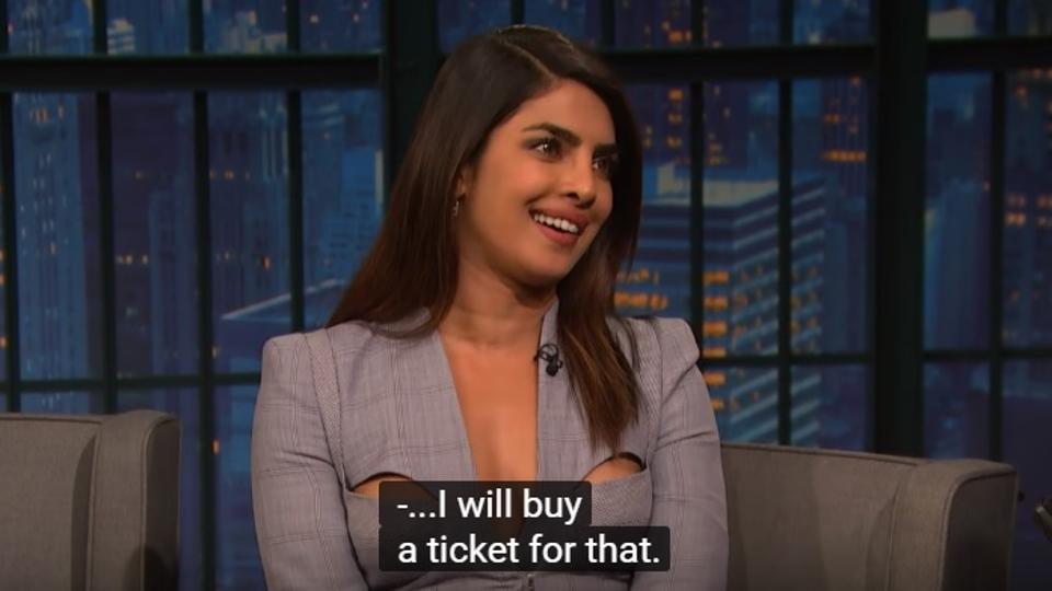 Priyanka Chopra promoted her show Quantico on the Late Night with Seth Meyers show.