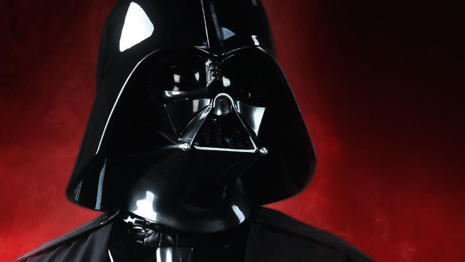 Darth Vader, often voted the most iconic cinema villain of all time.