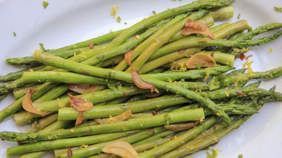 Quick-sauteed asparagus with a soy sauce glaze, from a recipe by Melissa d'Arabian.