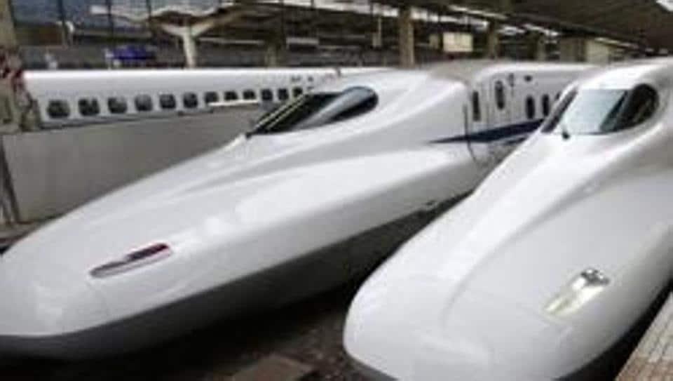 A file photo of the Shinkansen bullet train at Tokyo station.