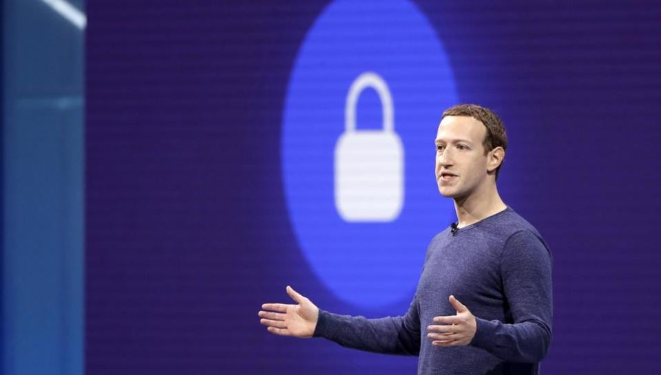 Facebook CEO Mark Zuckerberg makes the keynote speech at F8, theFacebook's developer conference on May 1, 2018, in San Jose.
