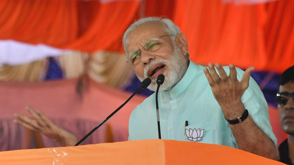 Prime Minister Narendra Modi on Thursday urged the people of Karnataka to vote for change in the Assembly elections, saying their mandate would decide the future of farmers and the youth. Modi, who is campaigning for BJP, accused the state's Congress government of being indifferent to farmers and said it failed to ensure that the benefits of central government's schemes reached them. (PTI File)