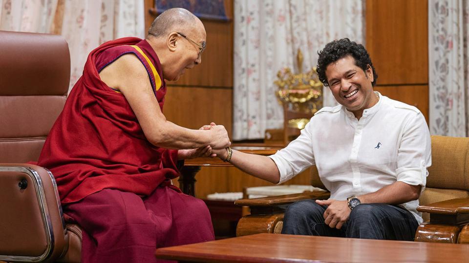 Sachin Tendulkar visits Dalai Lama's home in Dharamsala