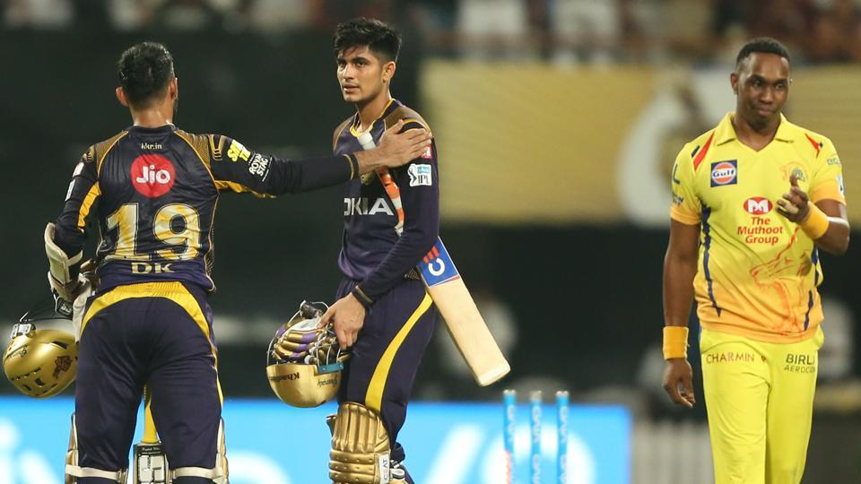 Shubman Gill  blasted his maiden fifty as Kolkata Knight Riders defeated Chennai Super Kings by six wickets in the IPL 2018 clash at the Eden Gardens.