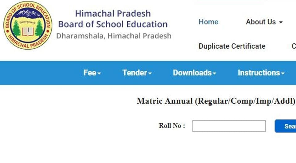 HPBOSE 10th result: Of the 1,09,678 students who appeared for the exam, 68946 passed. 15,214 students got compartment.