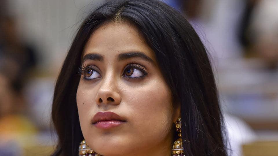 Sridevi's daughter Janhvi at the 65th National Film Awards function in Vigyan Bhavan, New Delhi on Thursday.