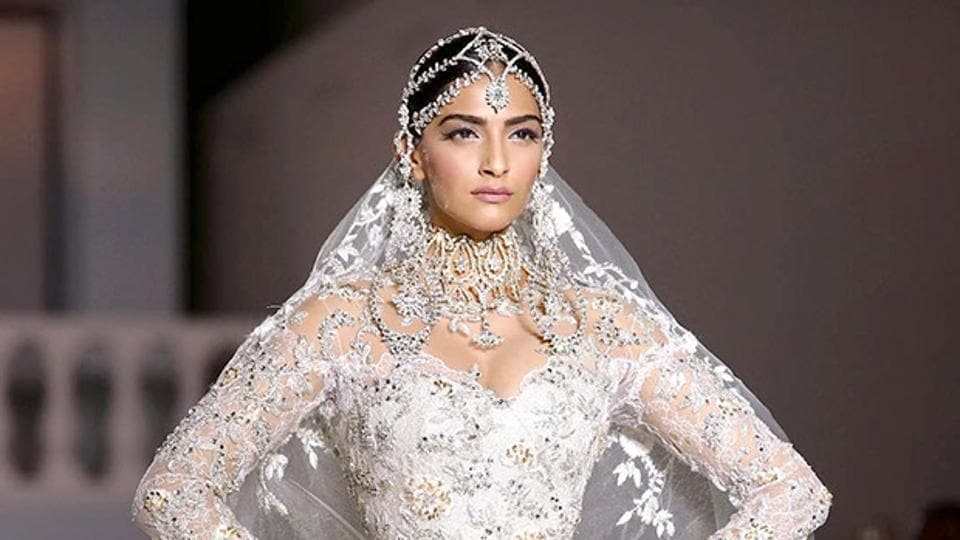 Here are all the clues that actor Sonam Kapoor has picked this famous British label to design her wedding reception dress. (IANS File Photo)