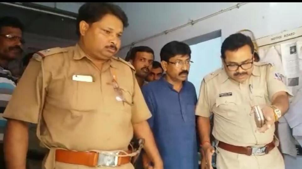 West Bengal police escort Srijon Roy, brother-in-law of Bharatiya Janata Partyleader Mukul Roy.