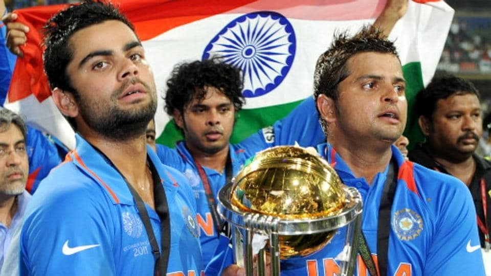 Virat Kohli (L)was part of the Indian cricket team which clinched the World Cup title in 2011 under the captaincy of MSDhoni.