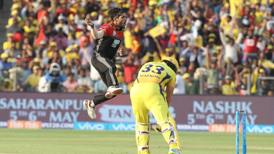 Umesh Yadav gave RCB a good start with the early wicket of Shane Watson. (BCCI)