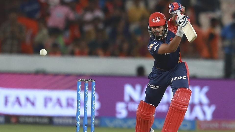Delhi Daredevils skipper Shreyas Iyer in action vs Sunrisers Hyderabad.  (AP)
