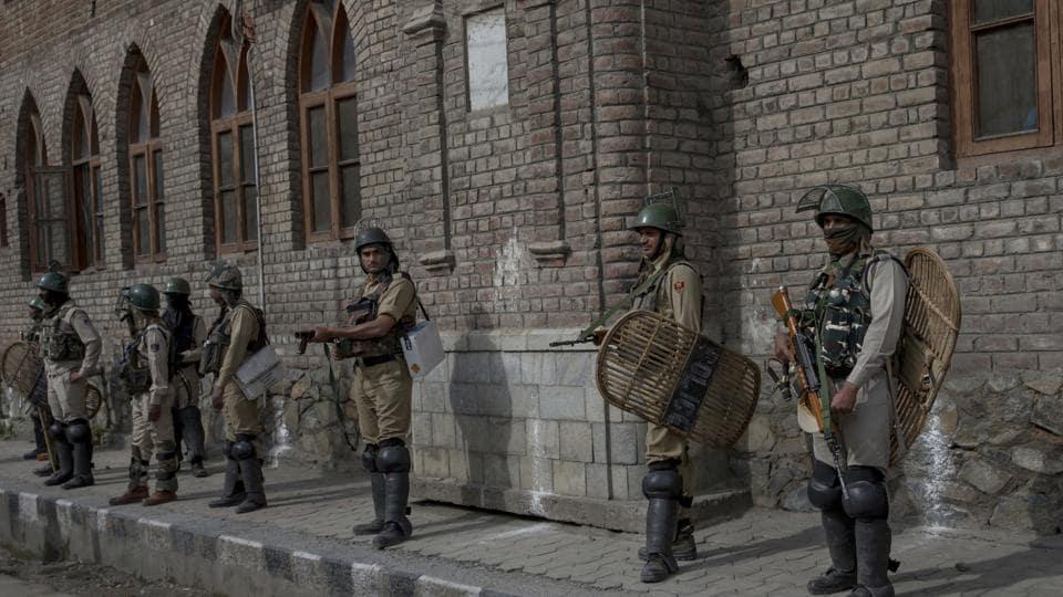 Image result for Jammu and Kashmir enforces Section 144