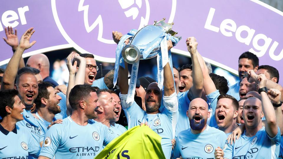 This was City's seventh league title in seven seasons, having won it in 2012 and 2014. (REUTERS)
