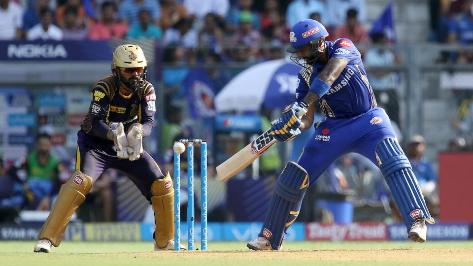 Suryakumar Yadav scored a fifty for Mumbai Indians during their Indian Premier League match against Kolkata Knight Riders on Sunday.