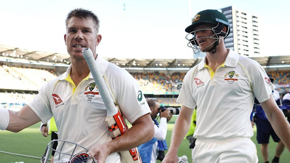 David Warner (L) and Cameron Bancroft currently remain suspended from international duty following their involvement in the ball-tampering incident in South Africa.