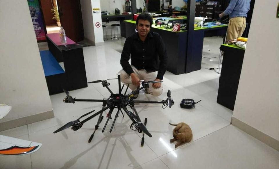 Milind Raj's rescue of the puppy using a robotic arm went viral on social media.