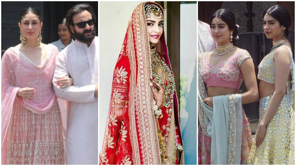 At Sonam Kapoors Wedding See What Kareena Janhvi Kapoor Others