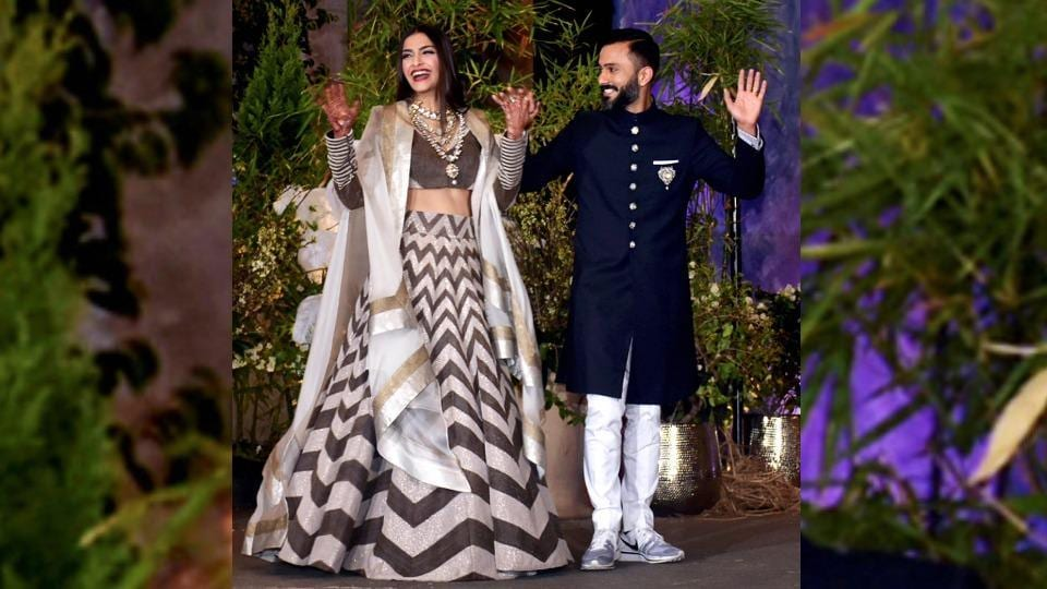 Now, we can't really imagine Anand Ahuja's wedding reception outfit with any other shoe. (PTI)
