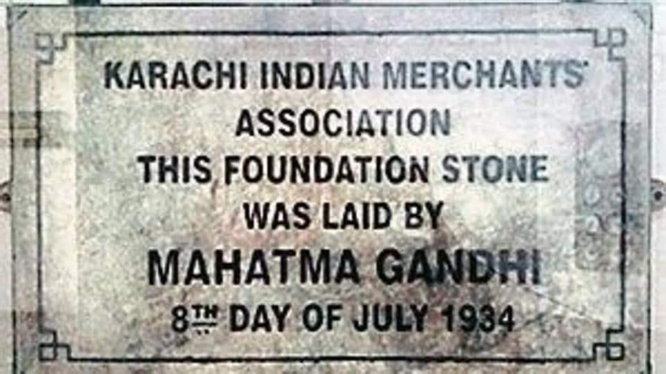 The Gandhi plaque.
