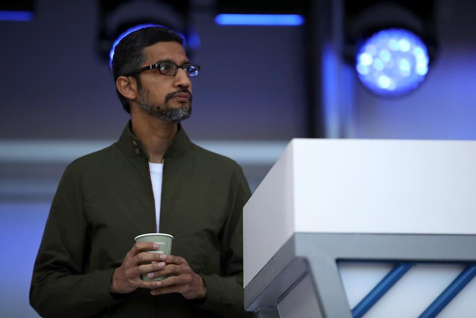 """Pichai said the latest principles for AIhelped it take a long-term perspective """"even if it means making short-term trade-offs."""""""