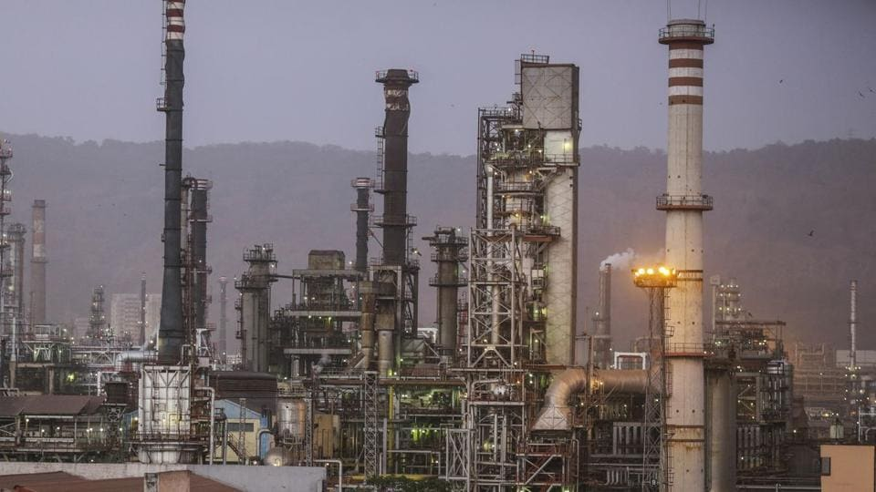 A Bharat Petroleum Corp. refinery stands in the Mahul area of Mumbai, India.