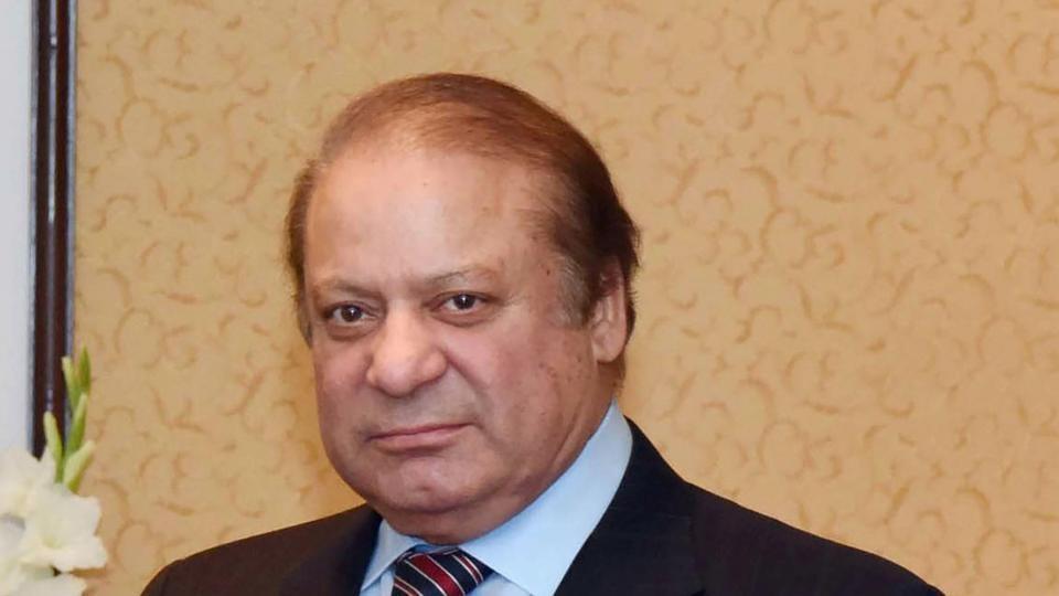 Nawaz Sharif (R) after the 10-nation Economic Cooperation Organization (ECO) summit in Islamabad.