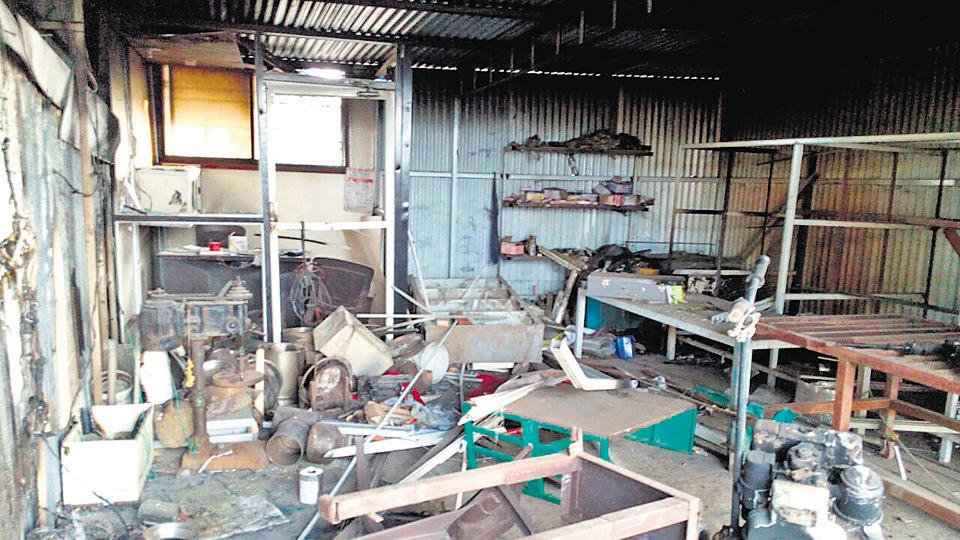 Pooja Sakat's family house was destroyed during the caste violence on January 1, 2018. As a fallout of the violence, on April 22, the 19-year-old, who was a key witness to the vandalism that took place, was found dead in a well. Dilip Kamble, Maharashtra minister for social justice, has promised a decision in two days on the demand for compensation by Pooja's family. (SANKET WANKHADE/ht PHOTO)