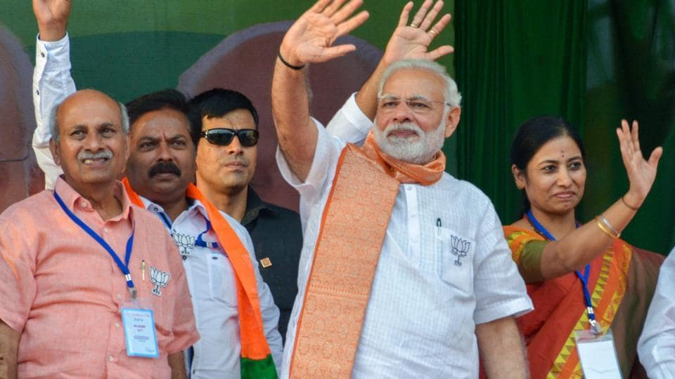 Prime Minister Narendra Modi helmed the Bharatiya Janata Party's adrenaline-charged campaign despite the party having declared BS Yeddyurappa its chief ministerial candidate.