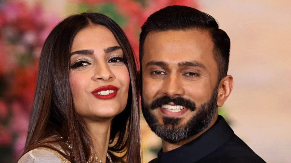 Image result for sonam kapoor and husband
