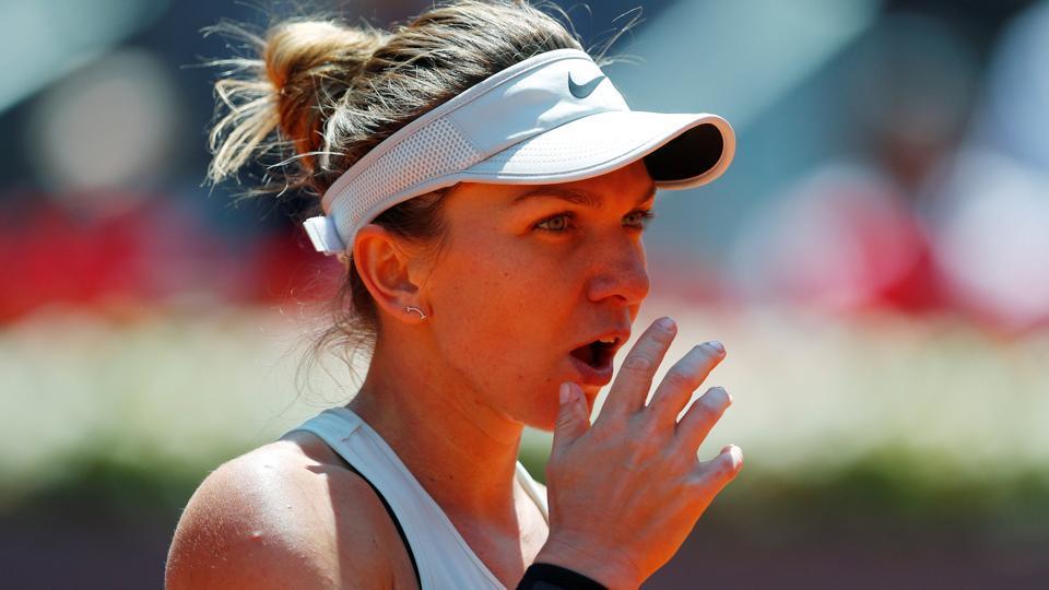 Karolina Pliskova defeated Simona Halep in their Madrid Open tennis quarter-finals encounter.