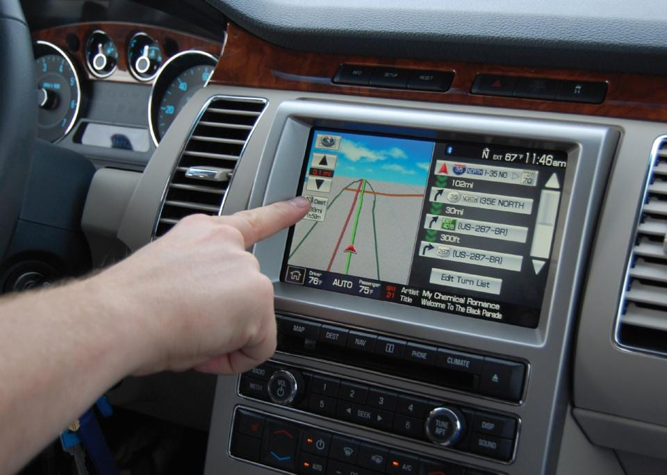 Having a touchscreen inside cars doesn't mean that you don't have to see the road