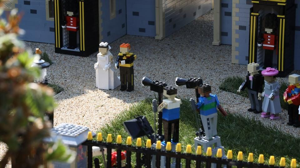 Detail of press photographers in a brand new model of Windor Castle goes on permanent display to celebrate the wedding of Prince Harry and Meghan Markle at Legoland Windsor in Windsor, England. Joining Prince Harry and Meghan Markle are members of the Royal Family and expected guests including The Spice Girls and Elton John. (Tim P. Whitby / Getty Images)