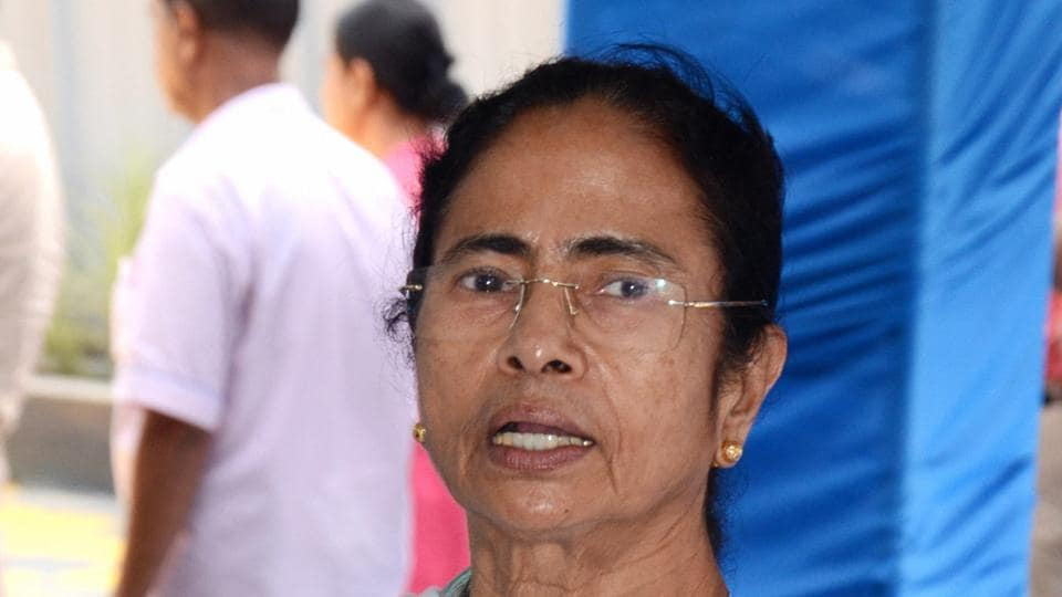 West Bengal chief minister Mamata Banerjee addresses the media at chief minister's office in Howrah.