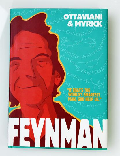 The cover of Feynman, a graphic novel on the Nobel Prize-winning physicist.